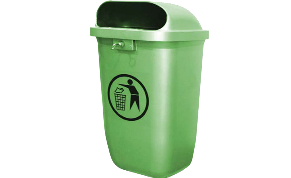 Litter Bin Pole Type Volume : 50 Lt.